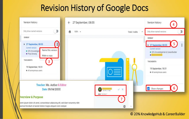 Revision History of Google Docs