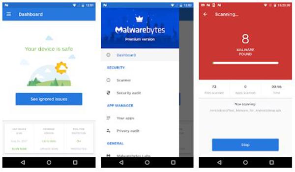 تطبيق Malwarebytes Security افضل تطبيقات الحماية من التجسس والاختراق - بحرية درويد