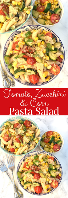 Tomato Zucchini and Corn Pasta Salad recipe