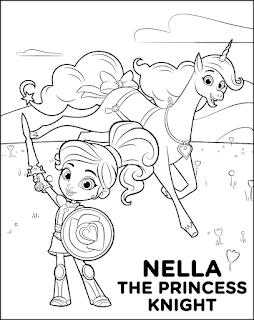 דפי צביעה לילדים הנסיכה נלה