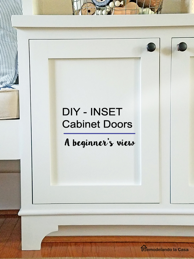 how to build inset cabinet doors - rockie projects