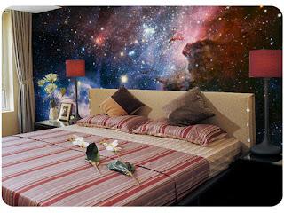 häftig tapet sovrum rymden space stars stjärnor stjärnhimmel