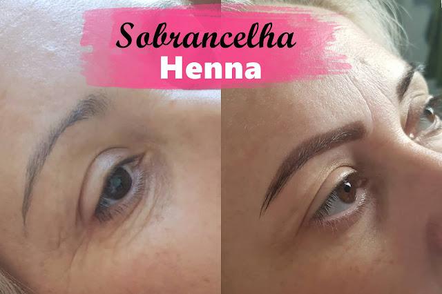 antes e depois com henna castanho claro