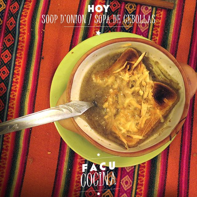 Soup d'onion / sopa de cebolla