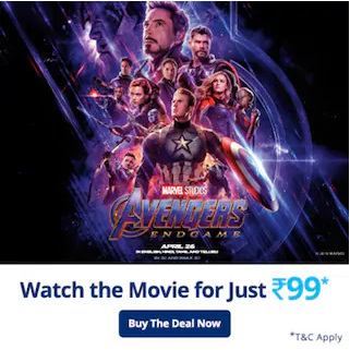 Avengers End Game Movie Ticket Offer: Get 100% Cashback Up to Rs.250