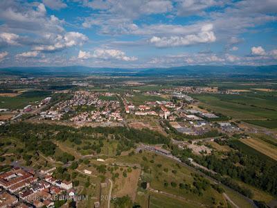 Neuf-Brisach - Porte de Bâle (vue aérienne)