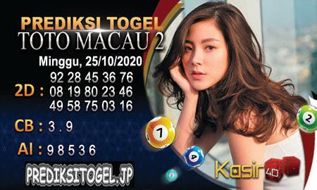 Prediksi Kasir4D Togel Macau Minggu 25 Oktober 2020