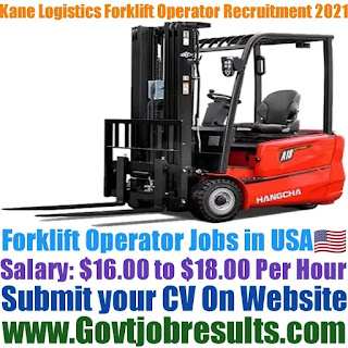 Kane Logistics Forklift Operator Recruitment 2021-22