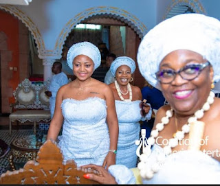 Regina Daniels inducted into 'married women group' with traditional ritual rites in Anioma as wife of Ned Nwoko (Photos)