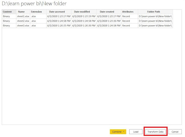 Power BI : How to get data from latest file in a folder in Power Query?