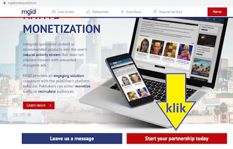 klik daftar publisher mgid