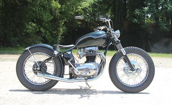 BSA A65 1971 By The Factory Metal Works Hell Kustom