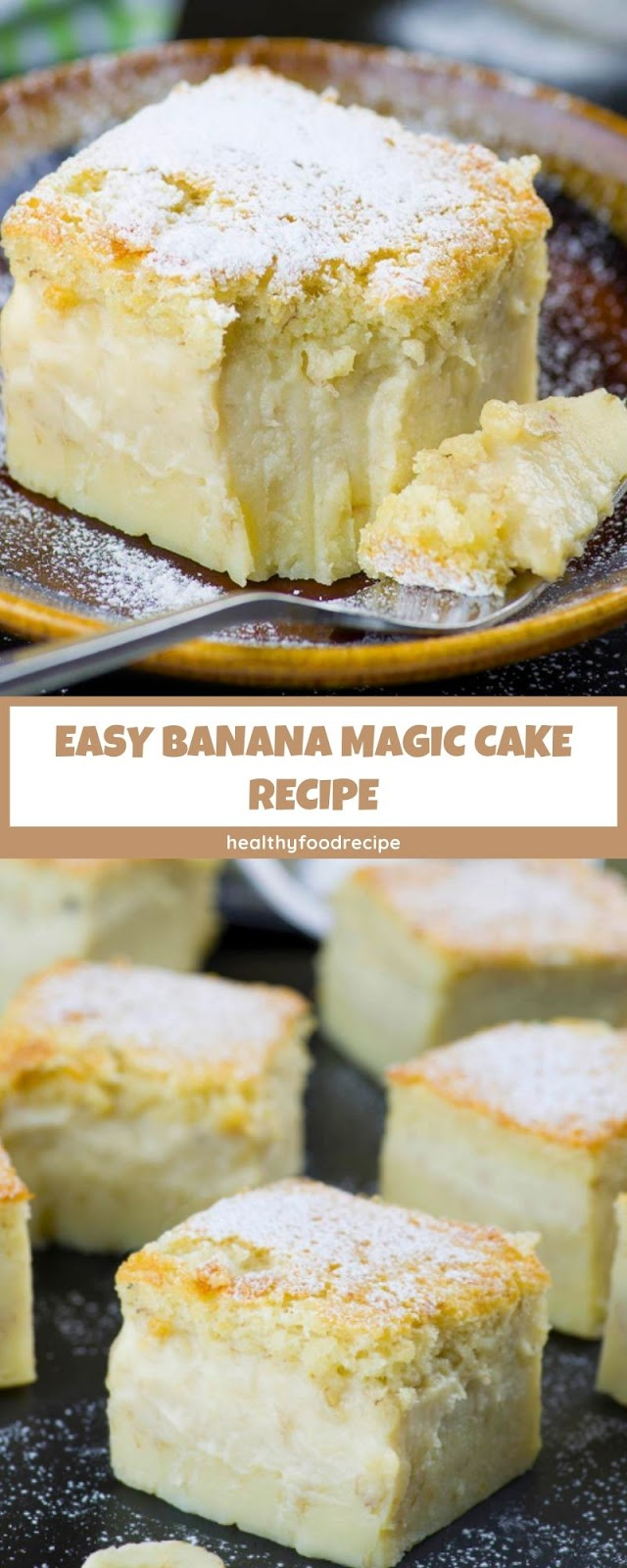 EASY BANANA MAGIC CAKE RECIPE