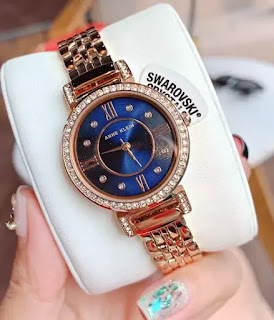 Anne Klein premium crystal-accented watch