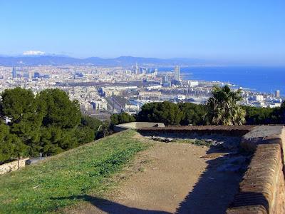 Barcelona from Montjuic castle