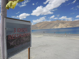 """Pangong Tso Lake"" made famous in recent years due to the Hindi film ""3 Idiots""."