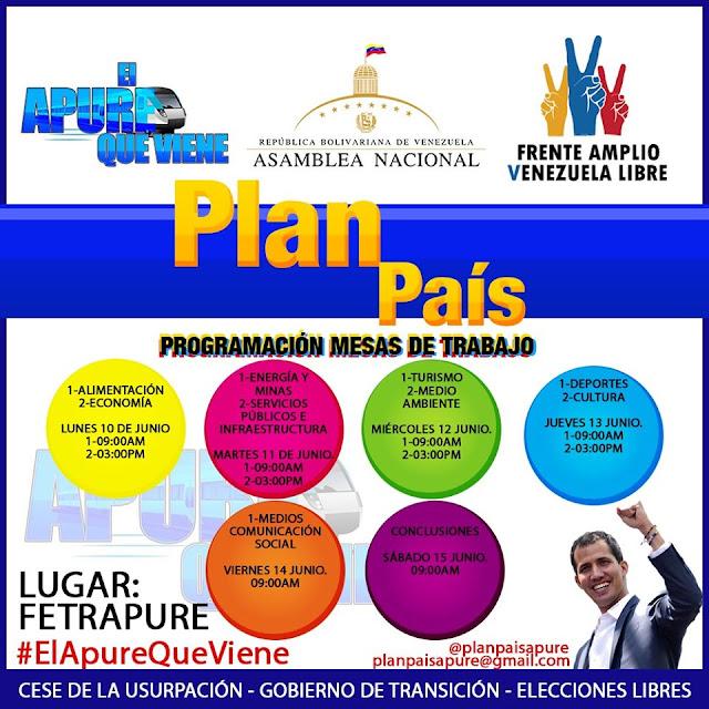 Apure: Invitación al Plan País y Comunicado del Frente Amplio Apure.