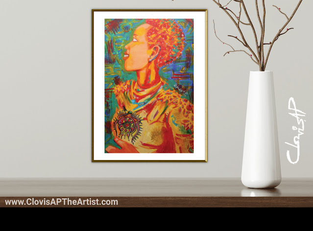 WARRIOR WOMAN ART PRINT By Clovis AP TheArtist