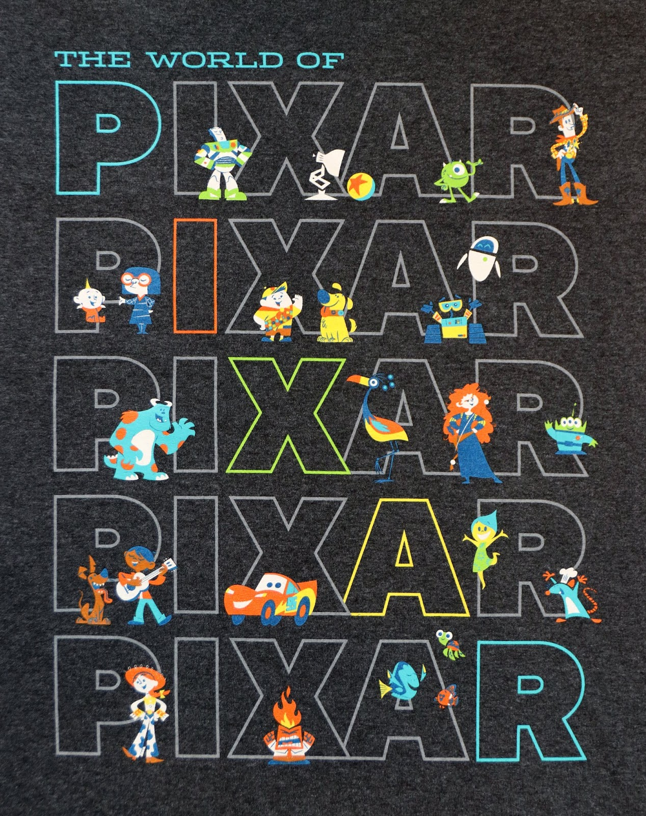 "Disney Parks ""The World of Pixar"" Tee shirt adults"