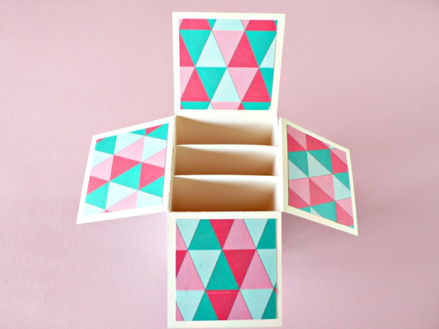 Card in a box versione tropicale-step4