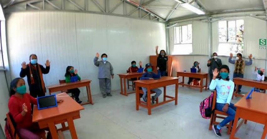 MINEDU: Clases semipresenciales iniciaron en 14 escuelas rurales de Arequipa cumpliendo con todos los protocolos de bioseguridad