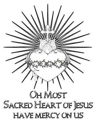 Life, Love, & Sacred Art: FREE Sacred Heart of Jesus