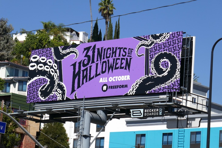 31 Nights of Halloween Freeform tentacles billboard