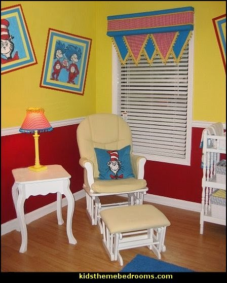 Dr Seuss Nursery  Dr. Seuss Pennant Banner  Dr. Seuss Cat In The Hat Dr Seuss bedroom dr seuss wall decorations