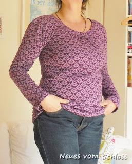 Joana pattern by Jolijou, Charlotta purple by lillestoff- neuesvomschloss.blogspot.de