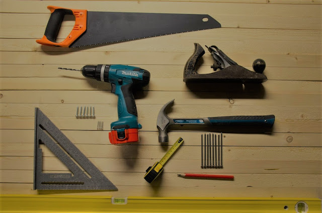 DIY tools laid out