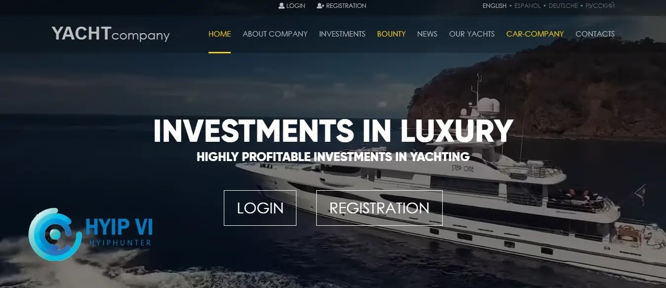 Yacht Company Hyip