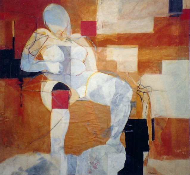 Seated Woman III - Painting -  Rosemary Marchetta