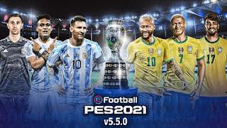 PES Mobile 2021 Patch Download (Brazil & Argentina Patch) V5.5.0