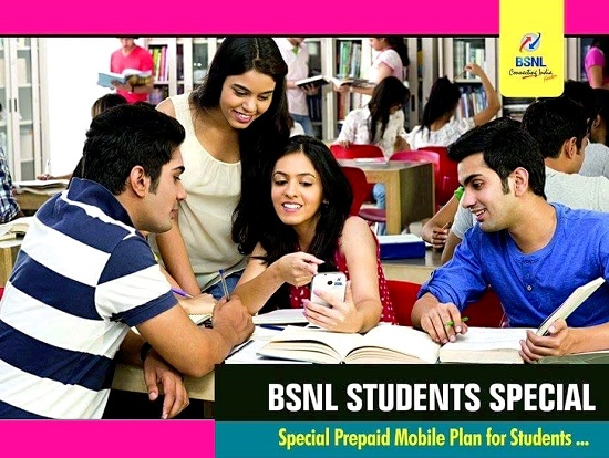 BSNL adds more features and always full talk time facility to the newly launched 'Students Special' prepaid mobile plan