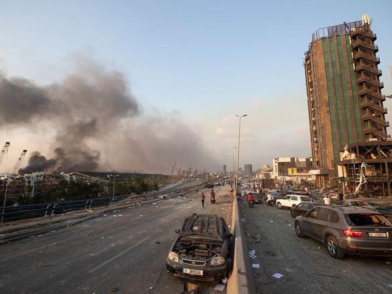بالصور ... آثار انفجار بيروت
