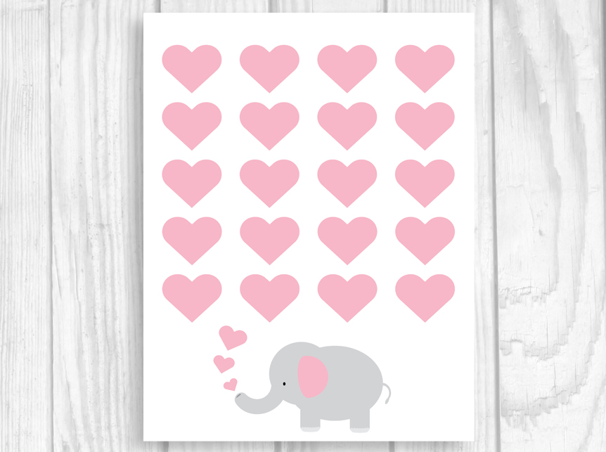 Weddings by Susan Printable 8x10 ElephantThemed Baby Shower