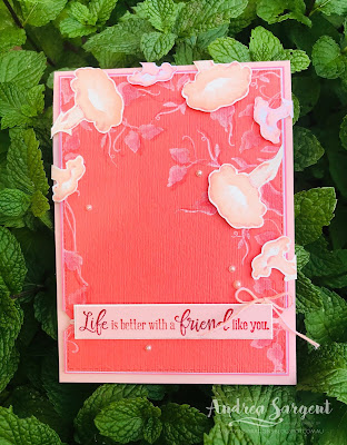 Morning Star, Stampin Up, Art with Heart, AWHT, Andrea Sargent, Valley Inspirations, Layered stamping, Peaceful Moments, Rectangle Stitched dies