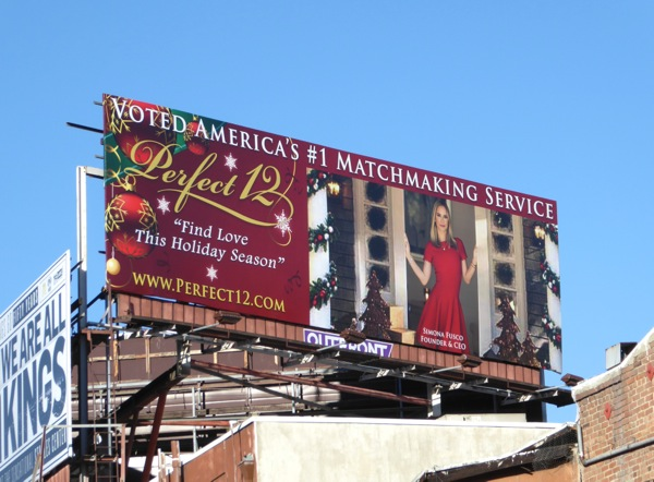 Perfect 12 matchmaking service billboard