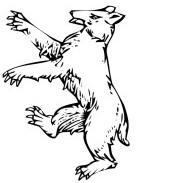 Blason escudo de armas oso juego de tronos significado heraldica