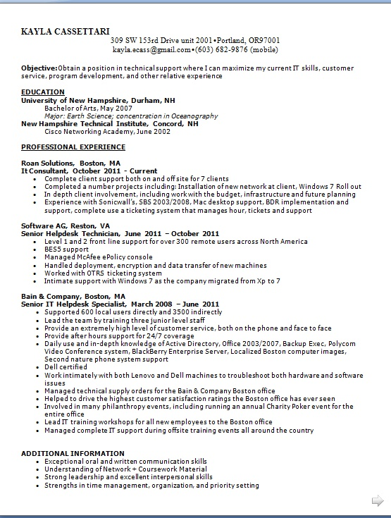 it consultant resume pattern in word format free
