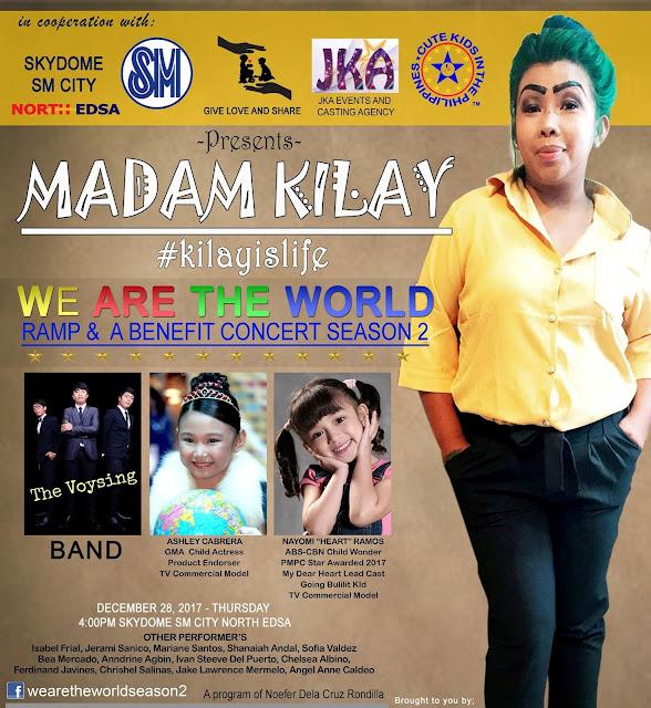 Madam Kilay Benefit Concert happening this Yuletide Season