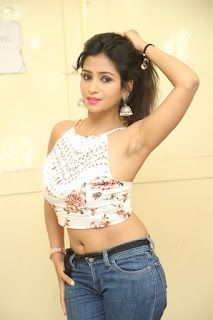 Deekshita Parvathi in a short crop top and Denim Jeans Spicy Pics Beautiful Actress Deekshita Parvathi January 2017 CelebxNext (239).JPG