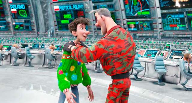 Steve y Arthur en la película de animación Arthur Christmas, Operación Navidad