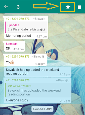 bookmark important message in whatsapp