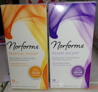 Norforms deodorant suppositories in Tropical Splash & Island Escape odor control feminine hygeine douche smell stinky