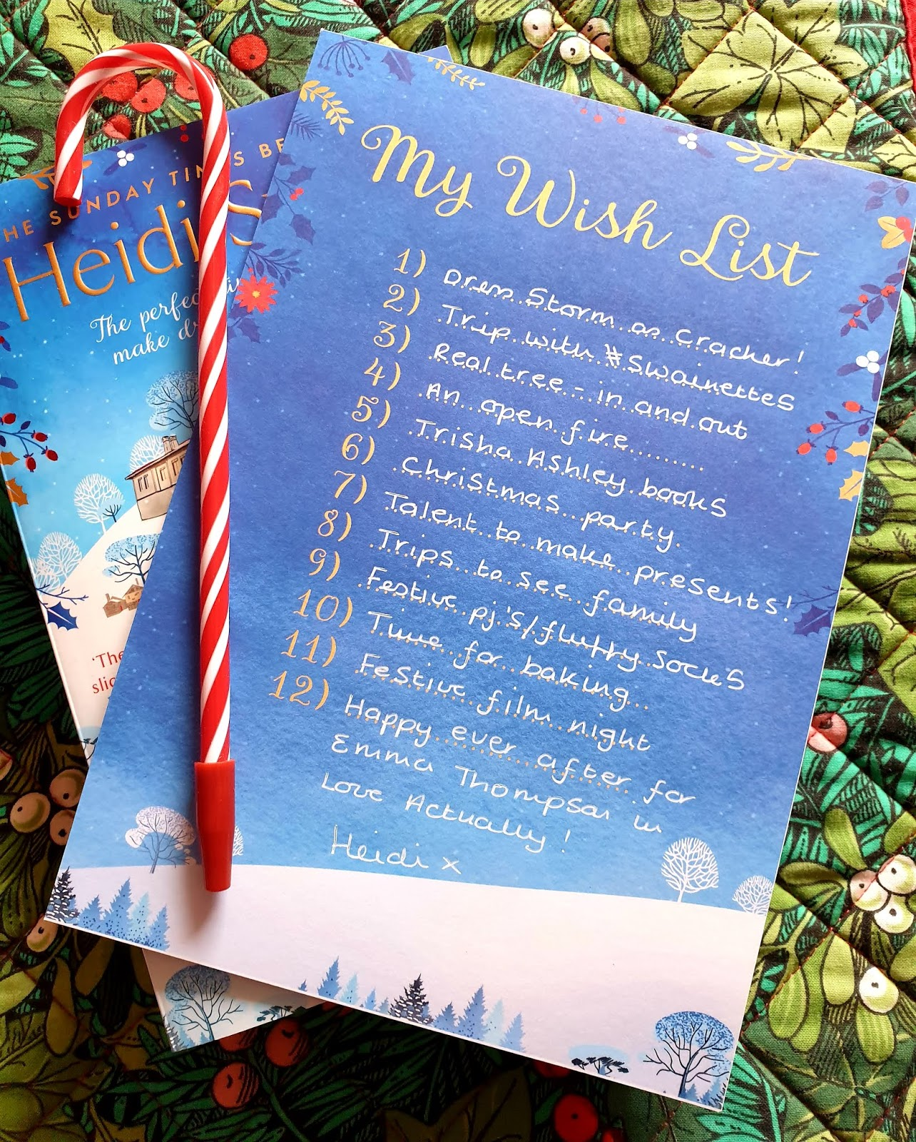Christmas Wish List 2019.Heidi Swain The Christmas Wish List Publication Day