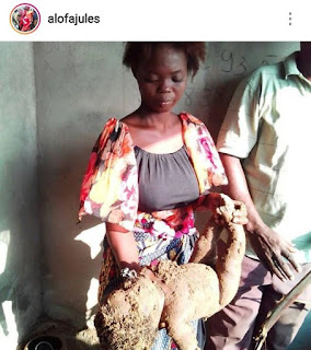 WOMAN BURIES HER BABY ALIVE (PHOTOS)