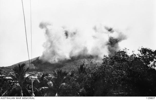 Bombs at Port Moresby, New Guinea, 19 March 1942 worldwartwo.filminspector.com