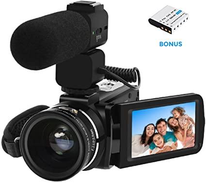 Under $200 Vlogging Camera: LAKASARA Full HD Camera Camcorder