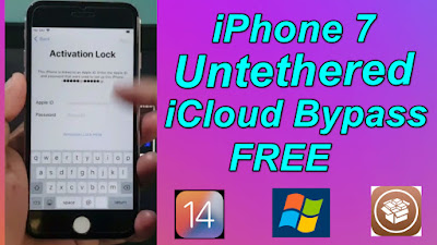 iPhone 7 Free Untethered iCloud Bypass latest iOS14.6 On Windows Pc.